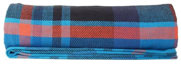 Tartan plaid blue red cotton 130x200cm quot tartan throw quot stbr webshop