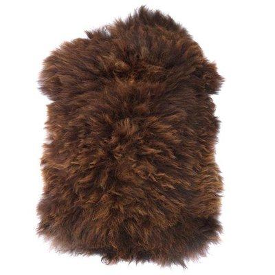 "Schapenvacht bruin wol 100x90cm, ""brown sheepskin"""