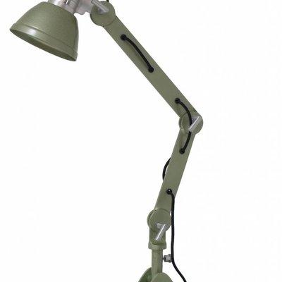 """Tafellamp metaal groen 75cm, """"rustic metal desk lamp"""""""