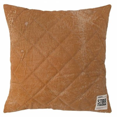 "Gestepptes Lederkissen 43cm, ""leather quilted cushion"""