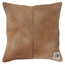 "Kissen braun haarigen Leder 43cm, ""natural leather cushion"""