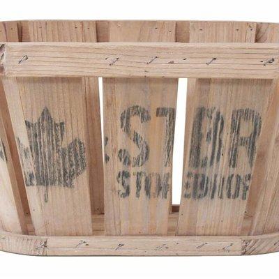 """Korb aus Holz 48cm, """"wooden basket"""""""