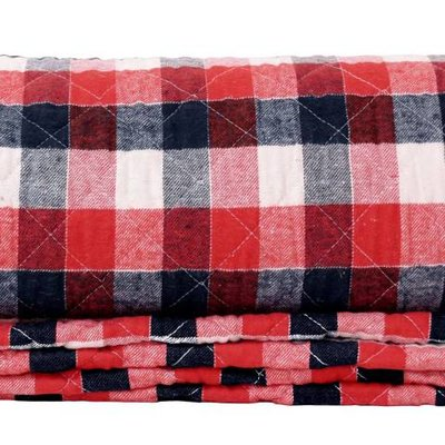 "Plaid checkered cotton two-person 200x120cm, ""checkered quilt 2 person"""