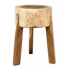 "Stool from mango wood 35x35x53cm, ""chopping stool"""