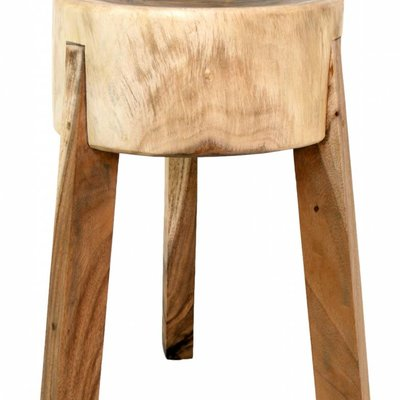 "Stool from mango wood 35x35x53cm, ""chopping stool"""