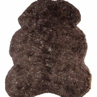 """Brauner Wollteppich 260cm, """"(bear) skin large"""""""