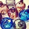 "Vase brown transparent glass 17x27cm, ""jug 3 liter smoked brown"""