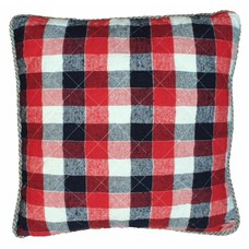 "Cushion checkered cotton 50x50 cm ""checkered cushion"""