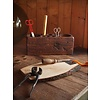 "Broodplank eco elzenhout natural 30-35cm ""board with bark"""