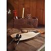 "Bureau organizer van teak hout 25x10x12cm ""wooden desk organizer m"""