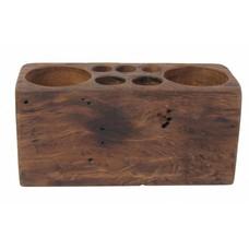 """Desk organizer of teak wood 25x10x12cm """"wooden desk organizer m"""""""