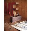 "Desk organizer of teak wood 30x10x12cm ""wooden desk organizer l"""