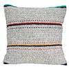 "Cushion wool gray with stripes 50x50cm ""woolen cushion stripes"""