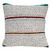 "Kussen wol grijs met strepen 50x50cm ""woolen cushion stripes"""