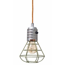 "Hängelampe grün Metall 22cm, ""green metal mine lamp"""