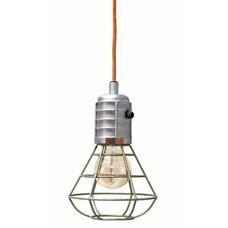 """Hanglampje groen metaal 22cm, """"green metal mine lamp"""""""