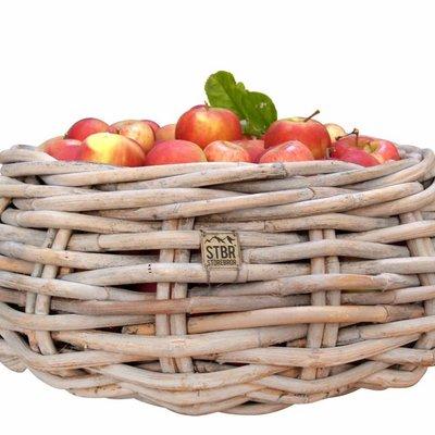 "Rattan basket round 60cm ""round xl twigbasket"""
