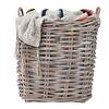 """Plaid Wolle grau mit Streifen und Fransen 180x120cm """"woolen throw stripes"""""""