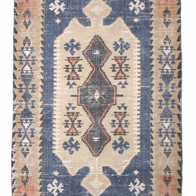 """Vloerkleed geprint katoen 180x120cm, """"printed cabin rug"""""""