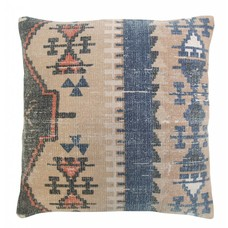"Printed cotton cushion 58cm, ""printed cabin cushion"""
