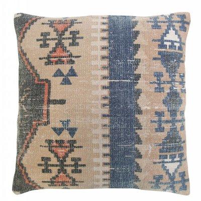 """Printed cotton cushion 58cm, """"printed cabin cushion"""""""