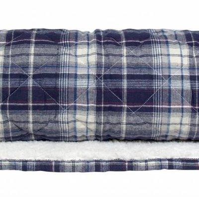 """Quilt checkered cotton fleece 130x170cm """"blue checkered fleece throw"""""""