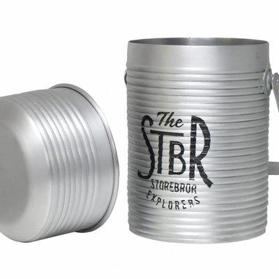 """Opberg blik 15x15x27cm """"Storage jar"""""""