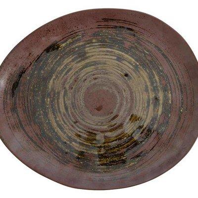 "Handgefertigte Keramik-Platte Satz von 2 27x23x2,5cm ""Handmade Keramik-Platte"""