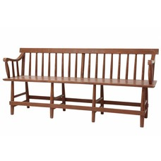 "Bank hout ""wooden cafe bench"" 180x50x81cm"