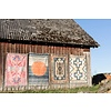 "Printed cotton rug 180x180cm, ""printed cabin rug"""