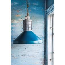 "Hängelampe Metall blau Industriedesign Ø48x46cm ""rustic industrial lamp"""