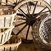 """Opbergmand van hout 48cm, """"wooden basket"""""""