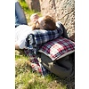 """Quilt geruit katoen met fleece 130x170cm """"blue checkered fleece throw"""""""
