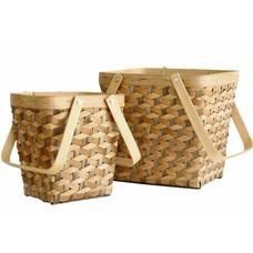 """Körbe Satz von 2  """"geo baskets set of 2"""""""