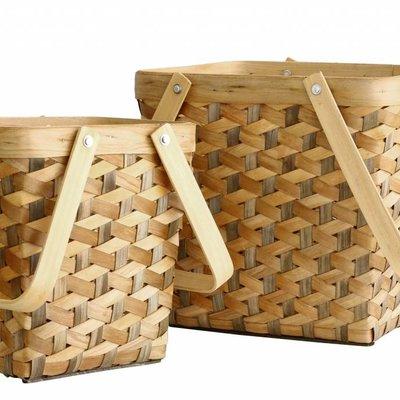 """Manden set van 2 """"geo baskets set of 2"""""""