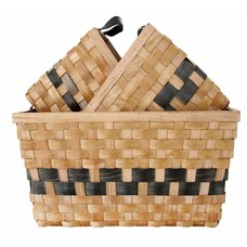 "Manden set van 3 ""double woven baskets set of 3"""