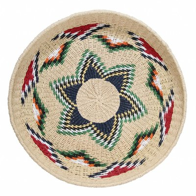 """Scale Recycled Paper """"native woven basket"""" 52cm"""