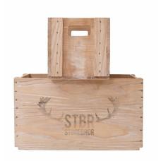 set van 2 houten boxen