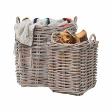 "Mand van rotan ""Twig XL baskets set of 2"""
