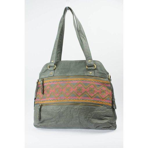 Depeche Aztec-print Medium Bag