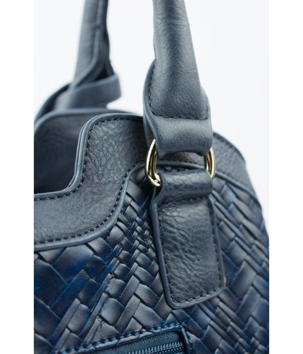 Bulaggi Blauwe gevlochten tas