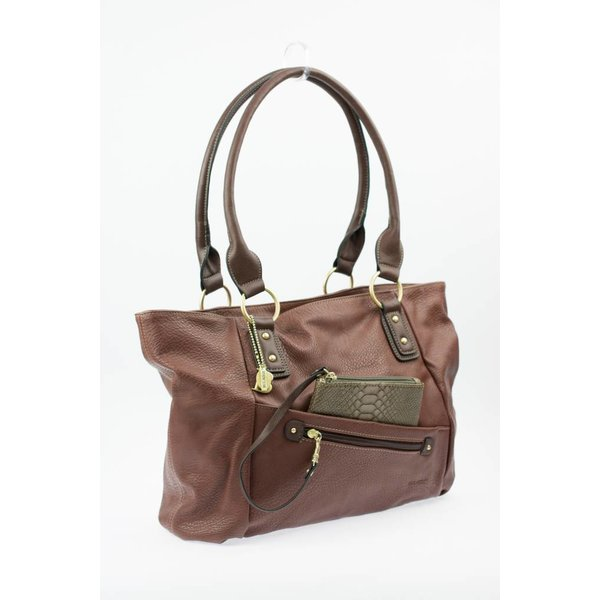 Bruine Loose Pocket Citybag