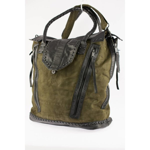 Stoere military green bag