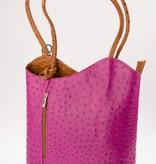 Sahdia fuchsia roze schouder/rugtas