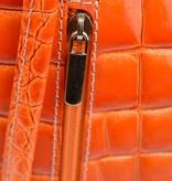 Sahdia Oranje kroko schouder/rugtas