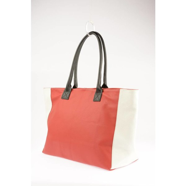 Unieke Duo-tint Rood / Wit Shopper
