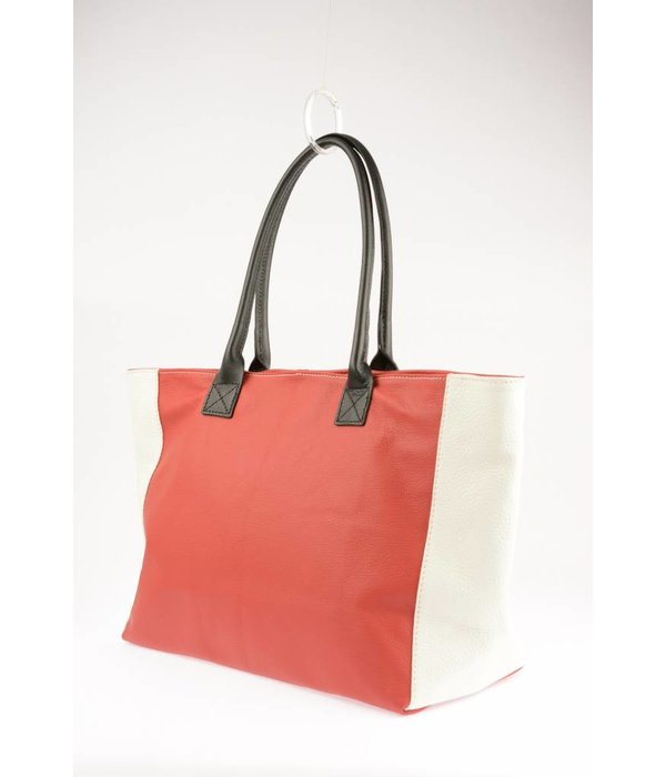 Sahdia Unieke Duo-tint Rood / Wit Shopper