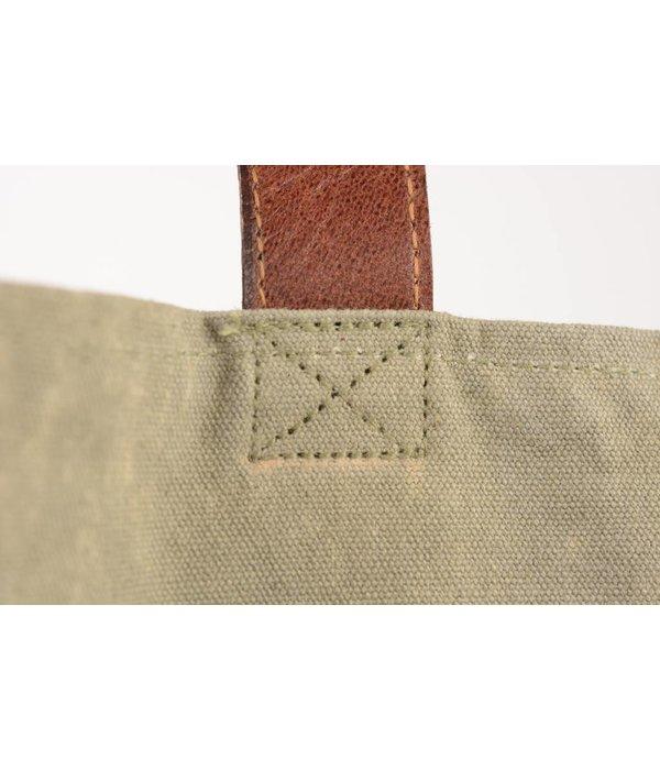 Mona-B Vintage canvas tote bag