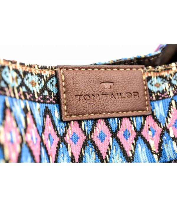 Tom Tailor Dames shopper met ikatmotief