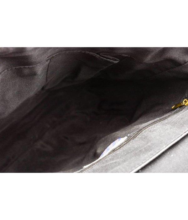 Tom Tailor Zwarte Kentucky messenger bag met veel opbergruimte